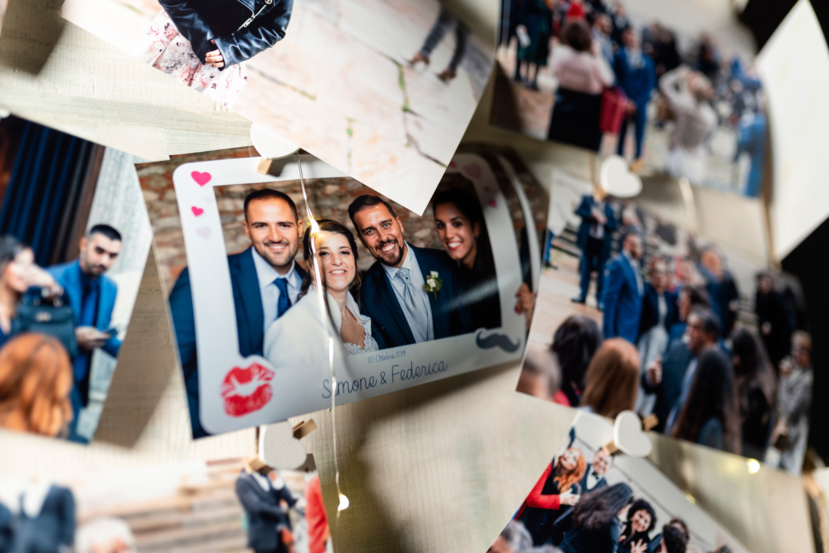 stampa di fotografie al matrimonio